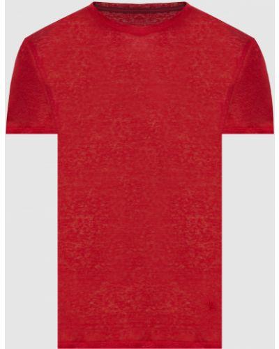Льняная футболка - красная Isaia