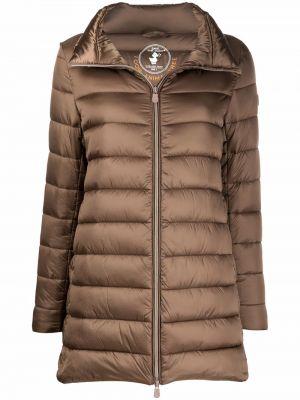 Коричневое пальто с воротником Save The Duck