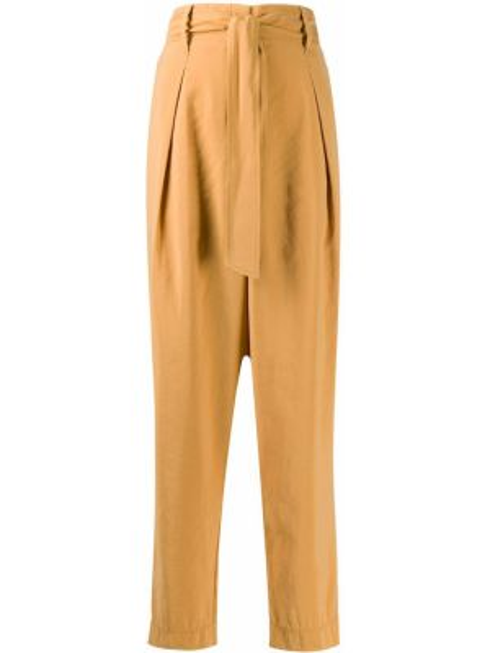 Свободные брюки со складками с завязками Forte Forte