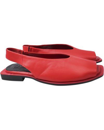 Кожаные босоножки - красные Aquamarin