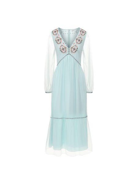 Шелковое платье - зеленое Vilshenko