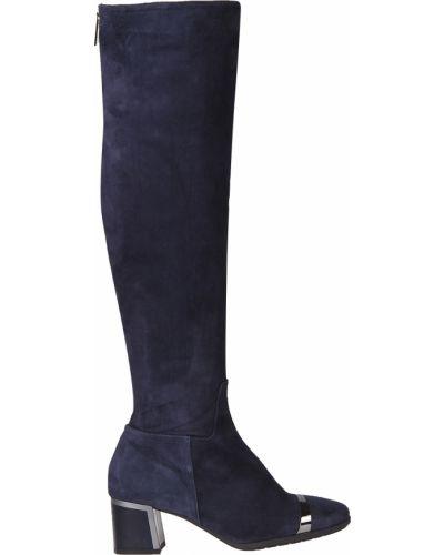 Ботфорты на каблуке кожаные замшевые Loretta Pettinari
