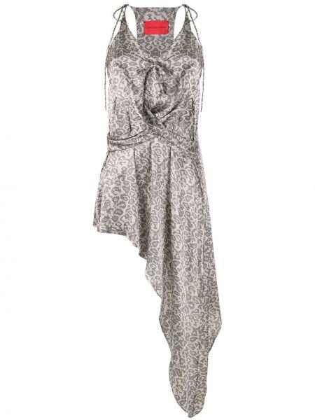 Платье с запахом - серое Strateas Carlucci