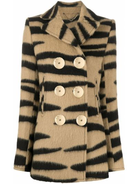 Шерстяной удлиненный пиджак двубортный на пуговицах Paco Rabanne