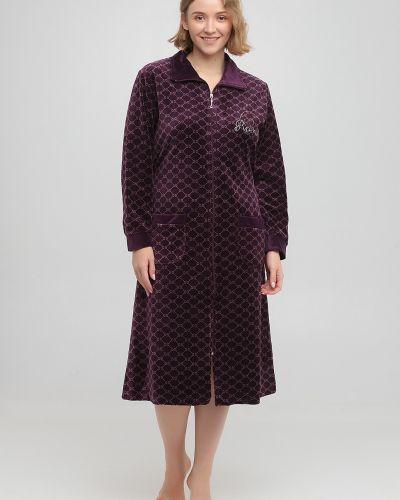 Велюровый халат - фиолетовый Romeo Life