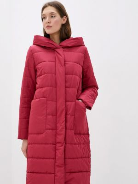 Теплая красная утепленная куртка Dixi Coat