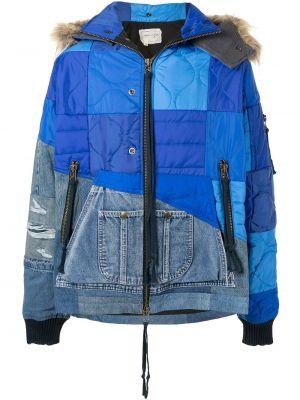 Bawełna kurtka jeansowa z kapturem z mankietami z długimi rękawami Greg Lauren