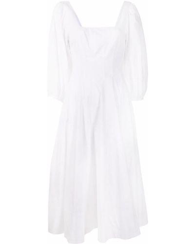 Хлопковое платье миди - белое Staud