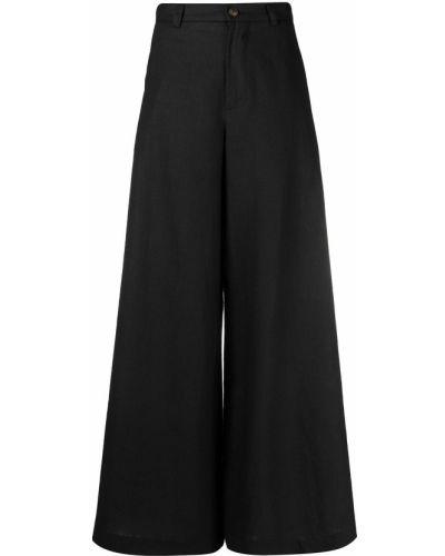 Свободные расклешенные черные брюки SociÉtÉ Anonyme