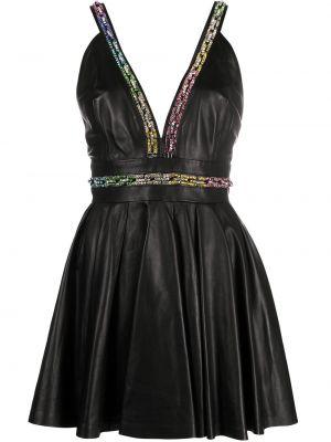 Платье мини короткое - черное Philipp Plein