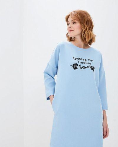 Платье осеннее голубой Befree