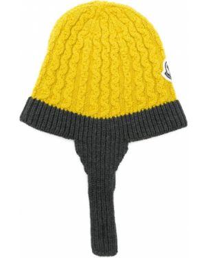 Żółta czapka wełniana Moncler Kids
