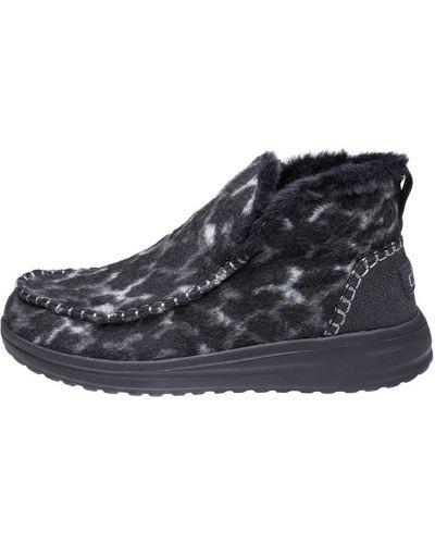 Шерстяные ботинки - серые Hey Dude