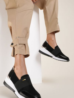 Złote czarne sneakersy Renee
