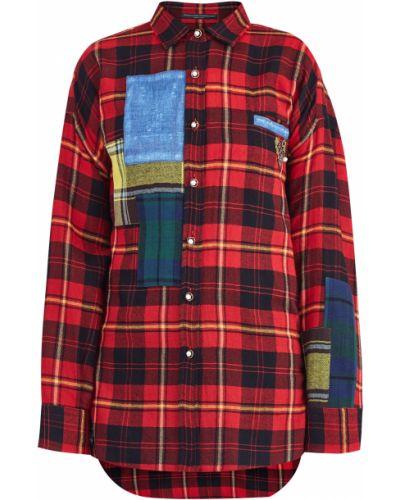 Блузка с вышивкой в клетку Ermanno Scervino