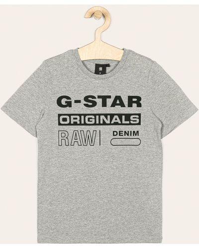 Футболка серая эластичная G-star Raw