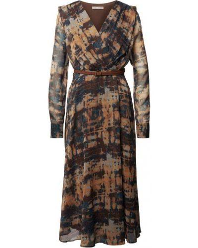 Brązowa sukienka kopertowa Jake*s Collection