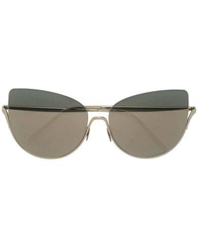 Солнцезащитные очки кошачий глаз металлические Nina Ricci
