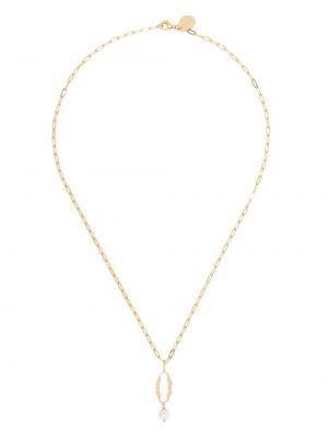 Ожерелье с жемчугом - желтое Simone Rocha