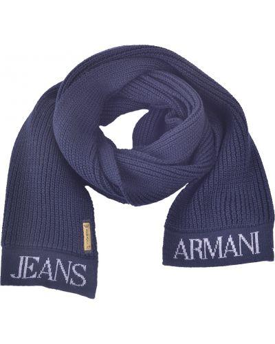 Шарф синий Armani Jeans