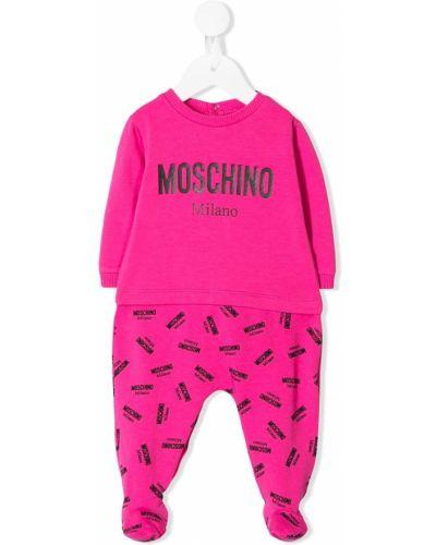 Piżama z nadrukiem długo Moschino Kids