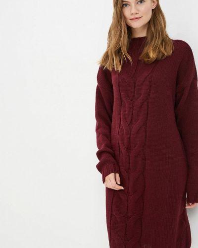 Платье бордовый вязаное Fimfi