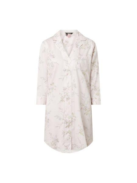 Z rękawami bawełna bawełna różowy koszula nocna Lauren Ralph Lauren