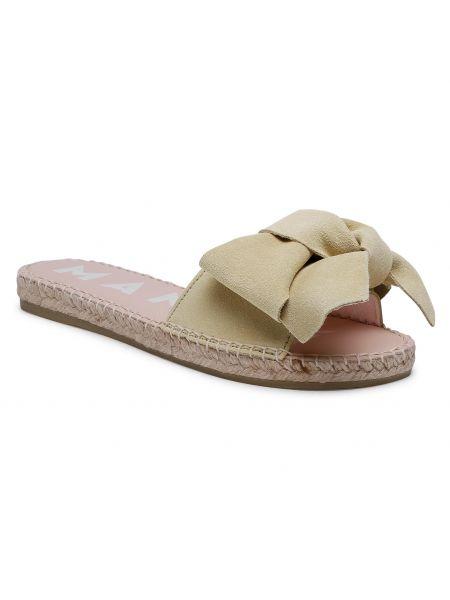 Żółte sandały zamszowe Manebi
