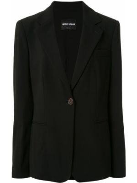 Черный пиджак оверсайз с карманами Giorgio Armani