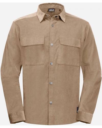 Теплая рубашка - бежевая Jack Wolfskin