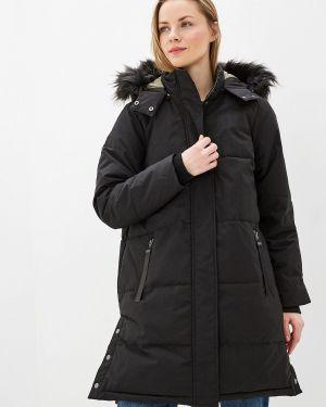 Утепленная куртка демисезонная черная Zizzi