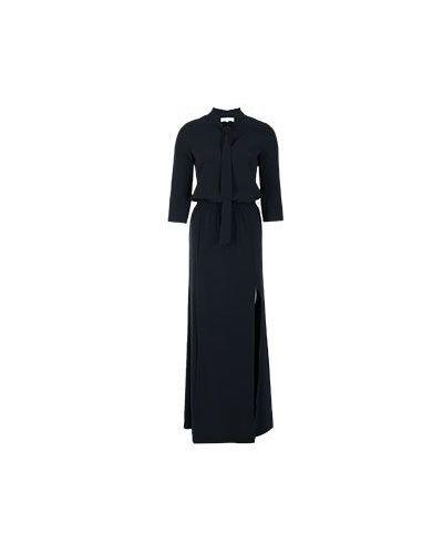 Черное платье с поясом Patrizia Pepe