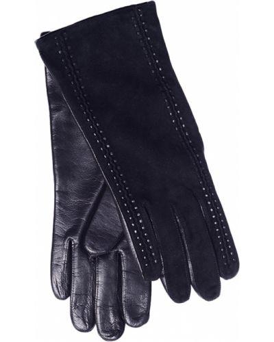 Кожаные перчатки замшевые черные Parola