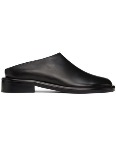 Черные кожаные мюли на каблуке Proenza Schouler