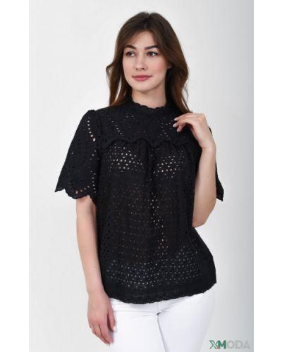 Хлопковая блузка - черная Ouí