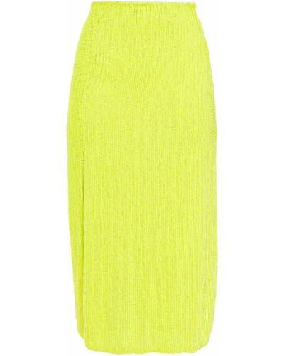 Spódnica z szyfonu - żółta Retrofete