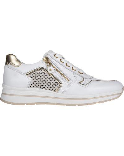 Кожаные кроссовки - белые Nero Giardini
