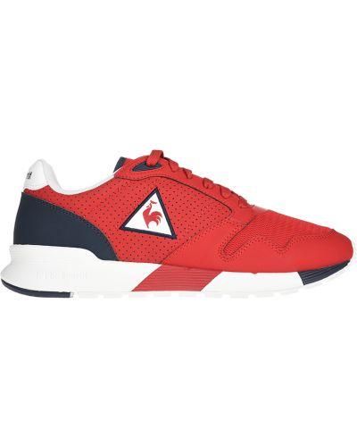 Кожаные кроссовки - красные Le Coq Sportif