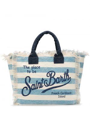 Пляжная пляжная сумка - синяя Mc2 Saint Barth