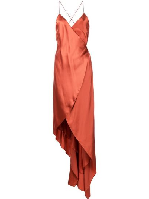 Шелковое платье - оранжевое Michelle Mason