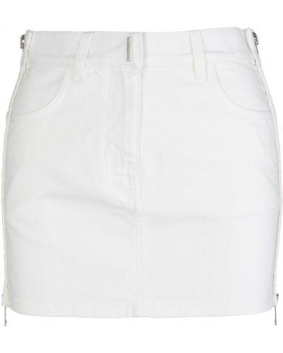 Biała spódnica jeansowa Givenchy
