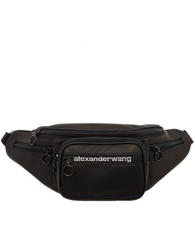 Черный ремень с карманами металлический на молнии Alexander Wang