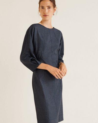 Платье мини прямое с вырезом Mango