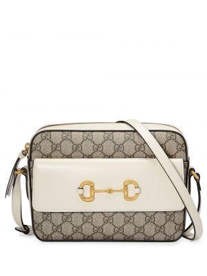 Белая кожаная сумка Gucci