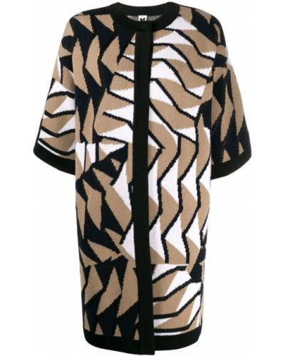 Коричневое пальто с капюшоном с воротником M Missoni