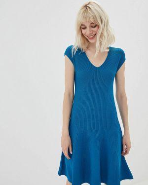Платье прямое синее Lorani