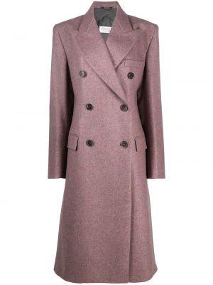 Шерстяное пальто - розовое Maison Margiela