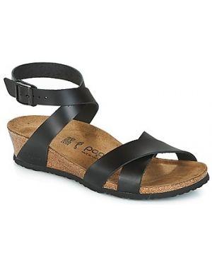 Czarne sandały Papillio