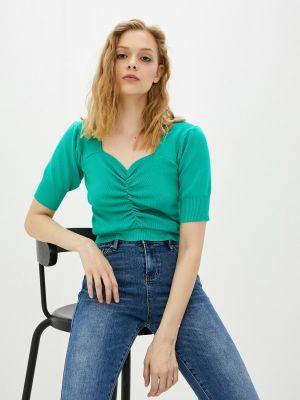 Зеленая блузка с короткими рукавами Compania Fantastica