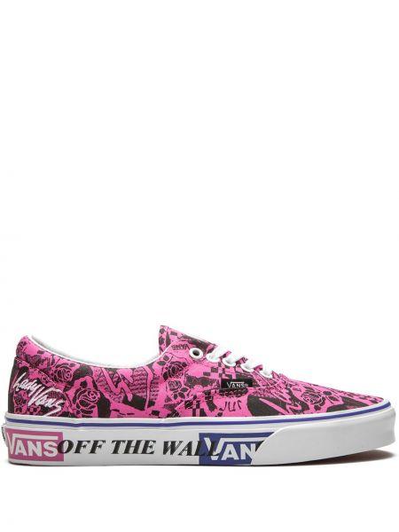 Розовый кружевная топ на шнуровке с вышивкой Vans